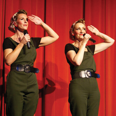 The Land Girls often perform at Marchfield House providing a nostalgic trip down memory lane